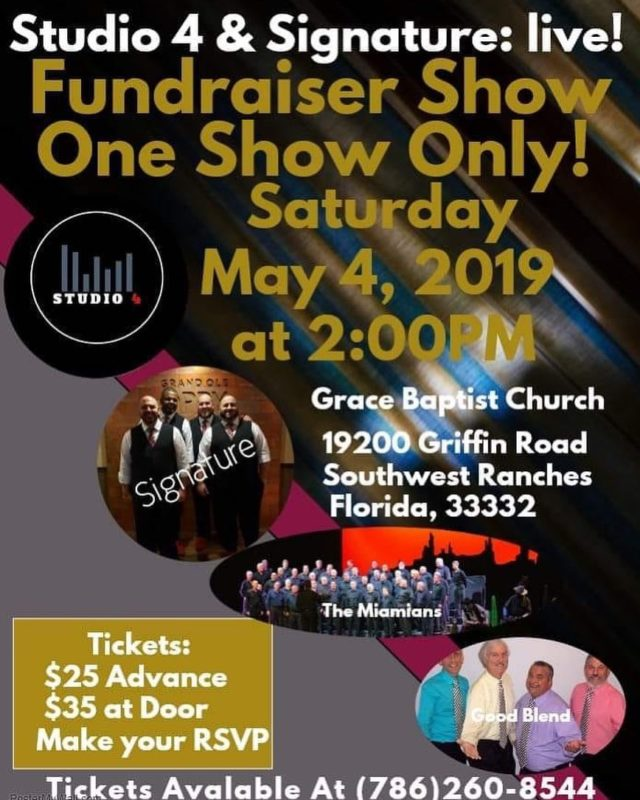 Hi everyone!  We are excited to announce show tickets are going fast.  If you would like to purchase advanced tickets we are adding a link to purchase through Paypal.  Follow these instructions:1.  Advance tickets are $25 which includes the afterglow. 2.  Follow the link (on our bio above) and purchase the number of advance tickets you would like. paypal.me/signatureqt 2.  Send us a message with the number of tickets you purchased and the name to leave at will call. 3.  Upon arrival at the venue, your tickets will be waiting for you for pickup.  We can't wait to see you all there! - Paul, Daniel, Dan, & Will #BHS #BarbershopHarmonySociety #SignatureQuartet #SignatureQt #BarberSoul #SUN